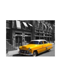 Fotomural Old New York Taxi