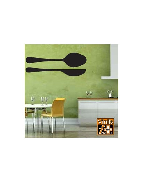 VINILO PARED CUCHARA CUCHILLO