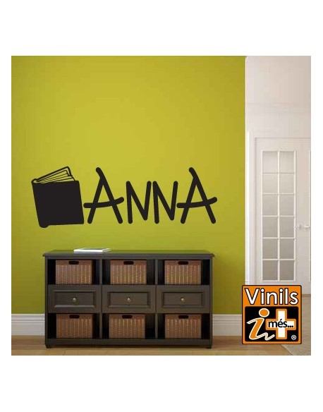 VINILO PARED NOMBRES ANNA