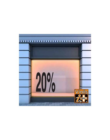 VINILO ESCAPARATE REBAJAS 20%