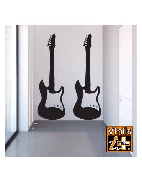 VINILO PARED CINE MUSICA GUITARRA