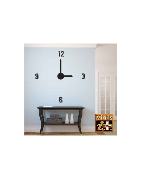VINILO PARED KIT RELOJ