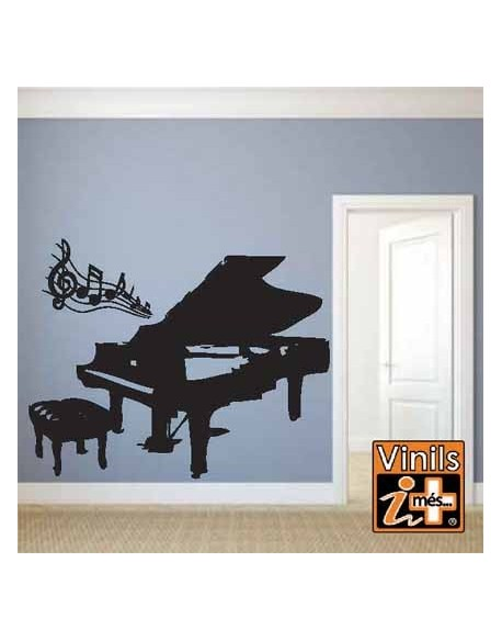VINILO PARED CINE MUSICA PIANO