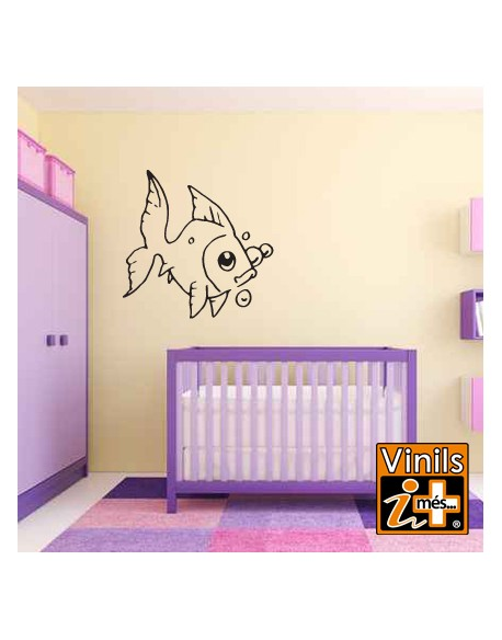 VINILO PARED INFANTIL PEZ