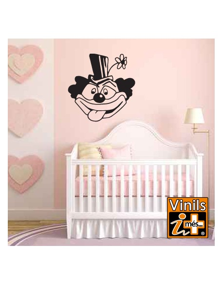 VINILO INFANTIL PARED PAYASO
