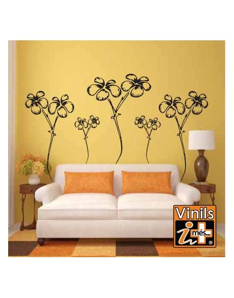 VINILO PARED NATURALEZA FLORES