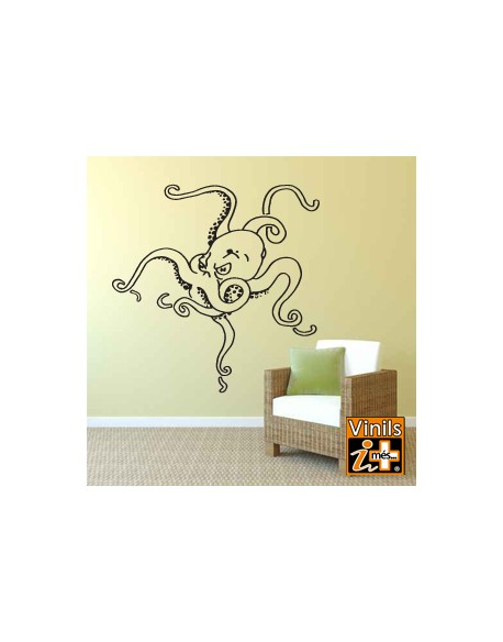 VINILO PARED NATURALEZA PULPO