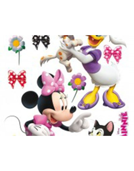 Sticker Minnie & Daisy Playing