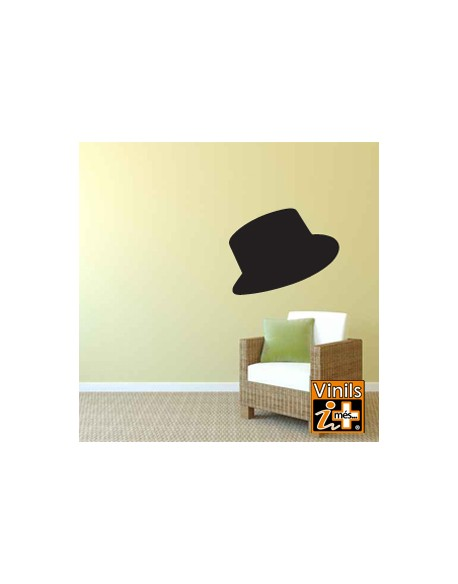 VINILO PARED RETRO SOMBRERO