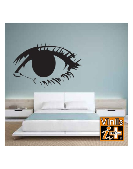 VINILO PARED RETRO OJOS