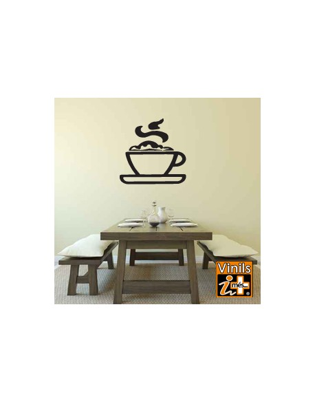 VINILO PARED SILUETA TAZA